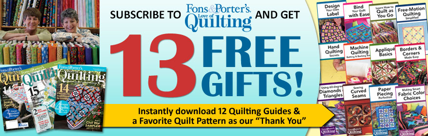 Love of Quilting for just $16.97(plus $4 S&H)