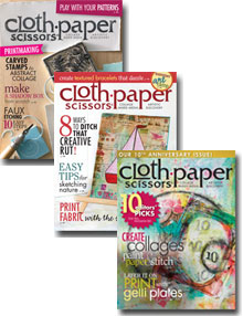 Cloth Paper Scissors magazine cover