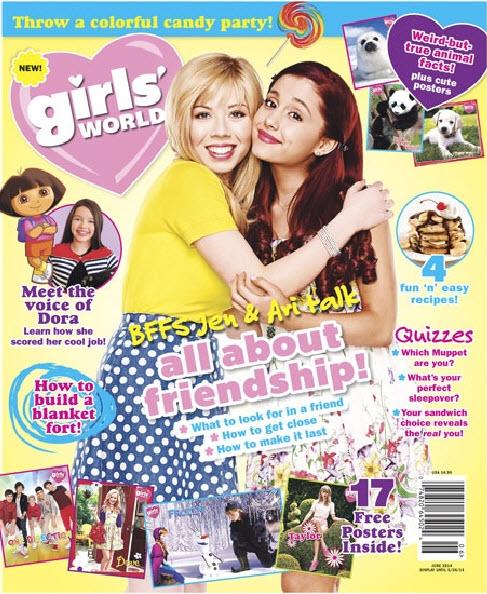 Cover art - Girl's World magazine