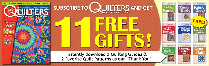 Quilters Newsletter for just $17.97(plus $4 S&H)