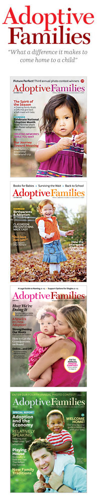 Adoptive  Families: Magazine covers