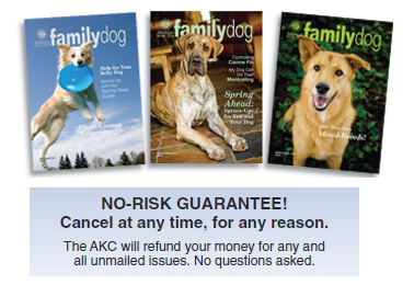 Cover of the American Kennel Club Family Dog Magazine