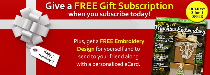 Renew + Free Gift - Creative Machine Embroidery