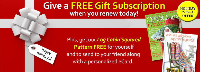 Renew + Free Gift - Quick Quilts