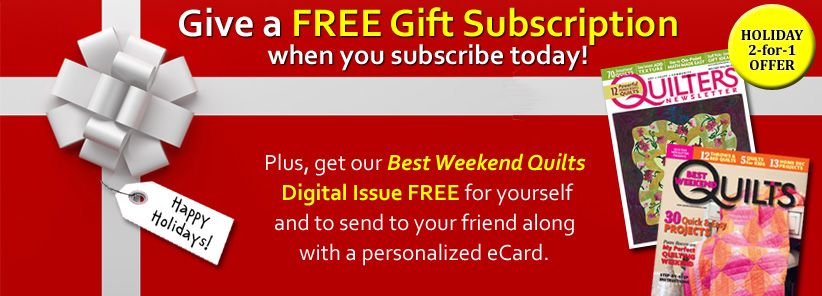 Renew + Free Gift - Quilters Newsletter