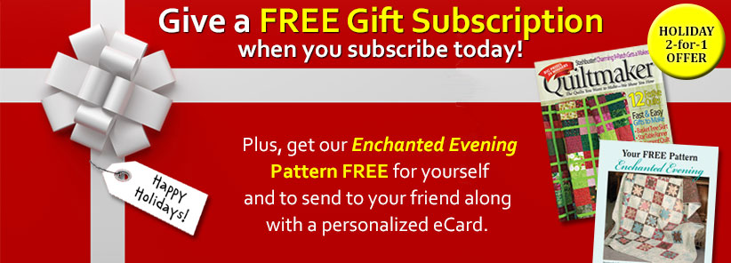 Renew + Free Gift - Quiltmaker