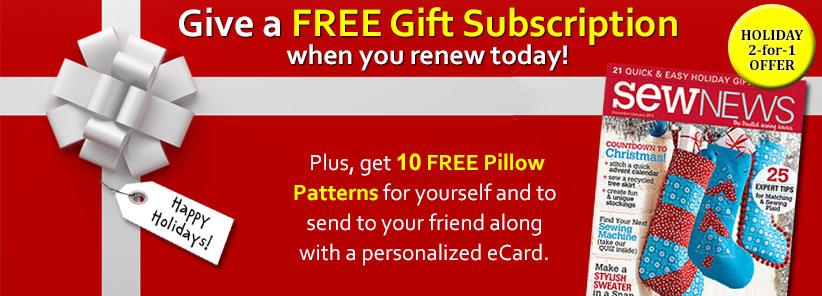 Renew + Free Gift - Sew News