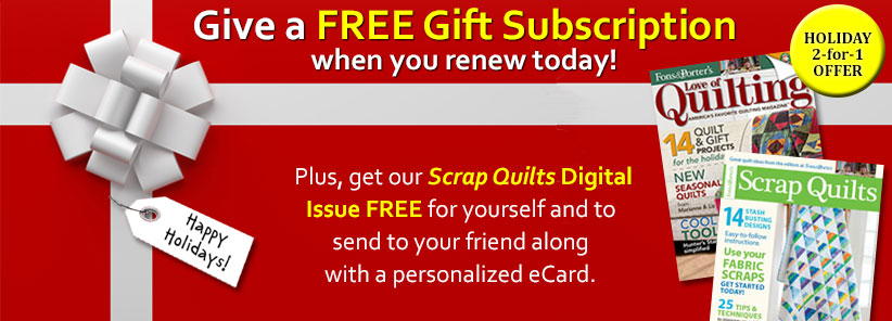 Renew + Free Gift - Love of Quilting