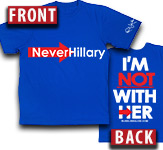 Rush's Never Hillary T-shirt